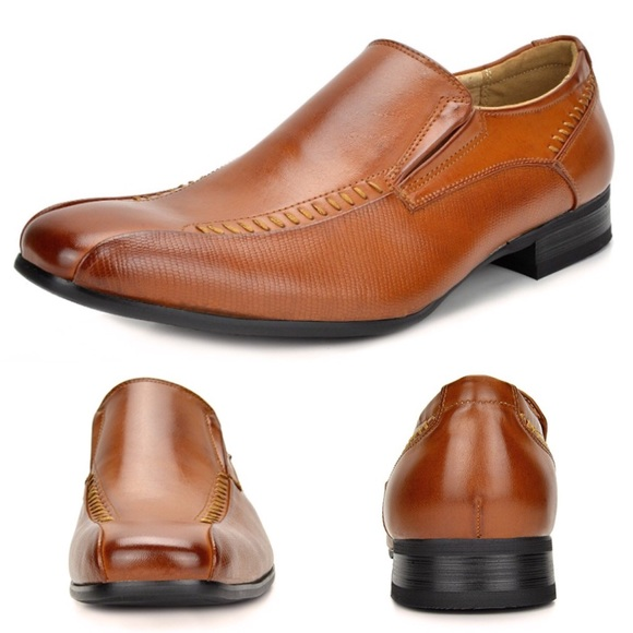 d100c387d68 NEW Men s Bruno Leather Lined Slip On Dress Shoes